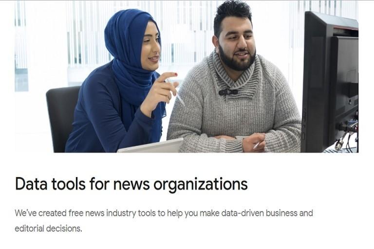 언론사를 위한 구글 데이터 도구들