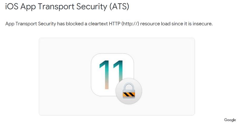 ATS(IOS App Transport Secutiry)는 http를 차단함