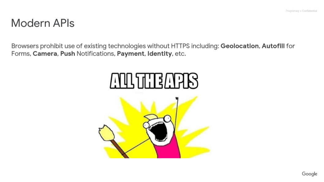 지리정보, 자동기입 등의 모든 API는 https가 필요함