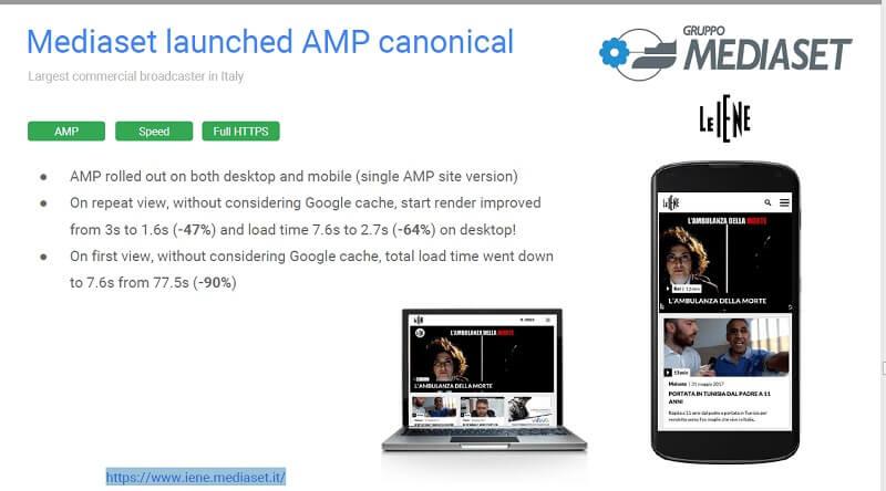 AMP 캐노니컬 예제 사이트