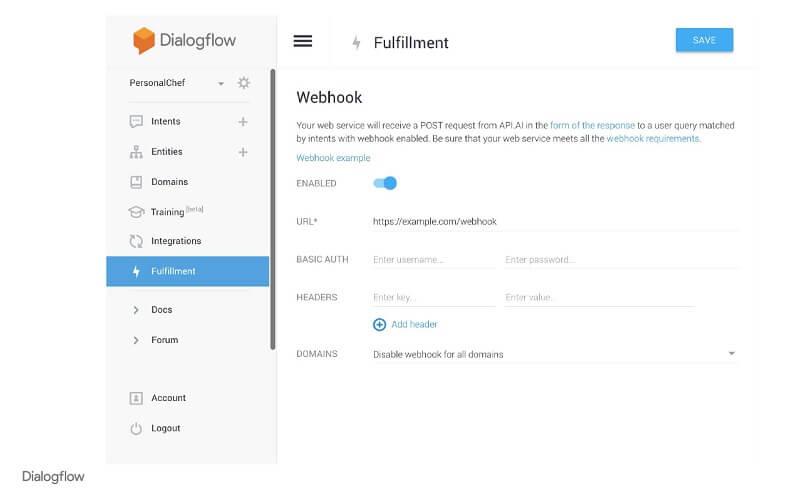 구글 dialogflow fulfillment - 에이전트를 뒷단의 코드와 연결하기