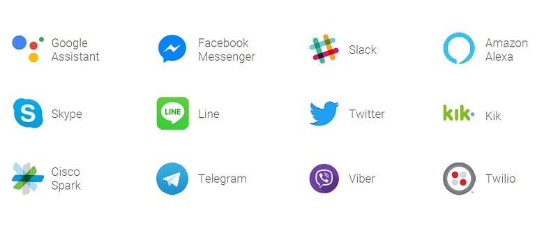 google dialogflow는 다양한 플랫폼을 사용 가능