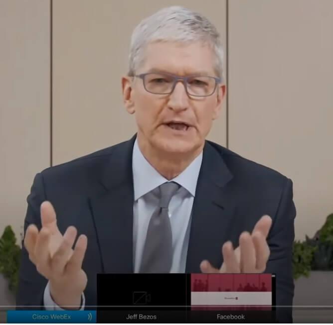 미국 하원 청문회에 참석한 애플 CEO 팀 쿡_20200730