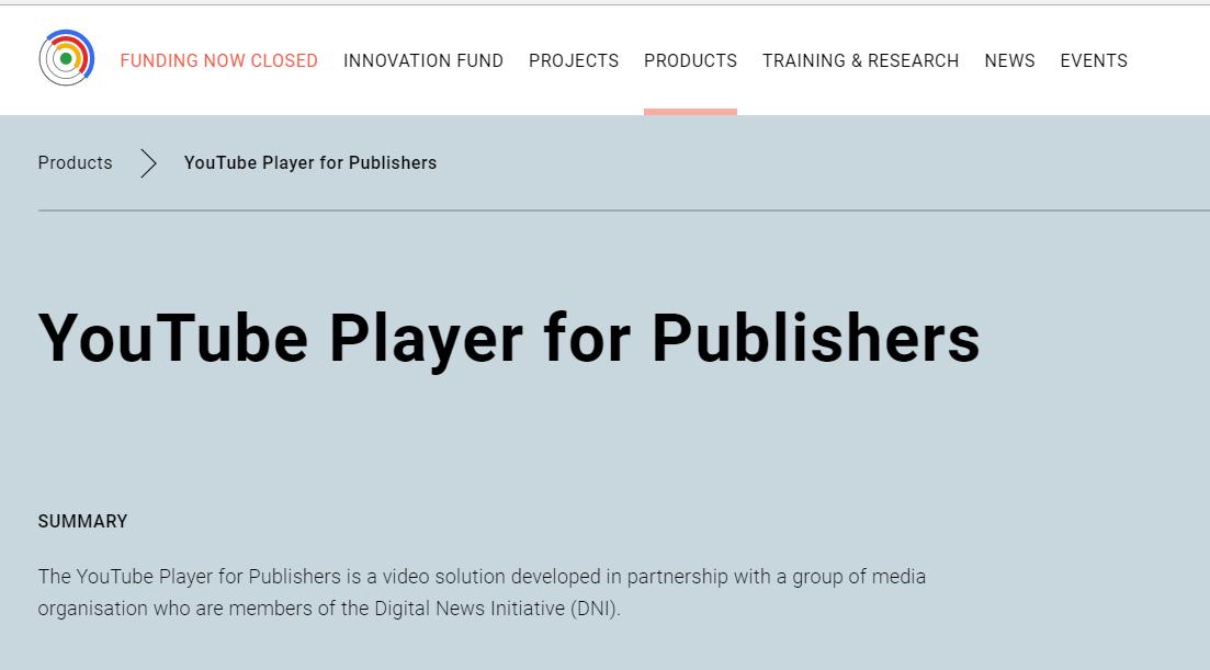 구글 player for publishers