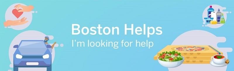 보스턴 글로브지의 코로나 바이러스 때문에 도움이 필요한 지역 주민을 돕는 사이트 - Boston's Helps