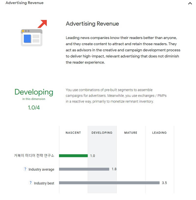 Data maturity assessment - 광고 매출