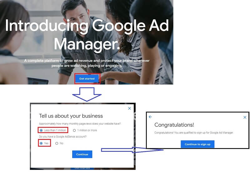 what is Google Ad Manager :  sign-up