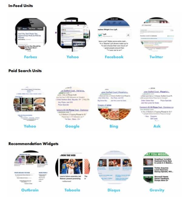IAB Interactive Advertising Bureau가 정의한 네이티브 광고 6가지 1