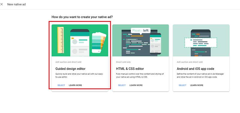 Guided Design editor 선택