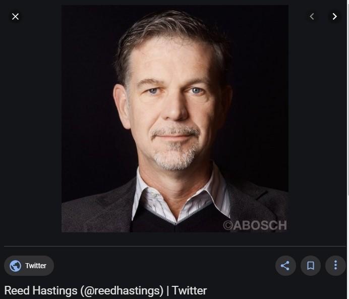 넷플릭스 공동 창업자이자 CEO Reed Hastings
