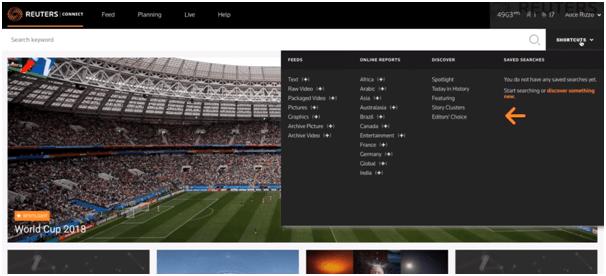 로이터 콘텐츠 판매 플랫폼 - Reuters Connect