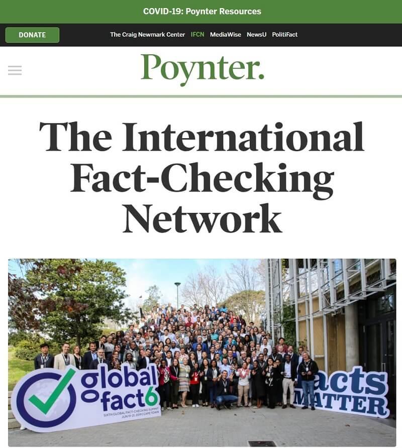IFCN 가입 신청서 - 국제팩트체킹 네트워크