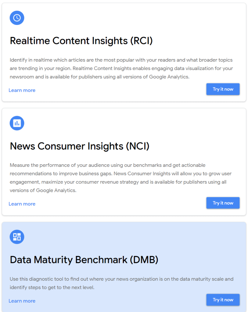 3 tools of Google Data for news organizations